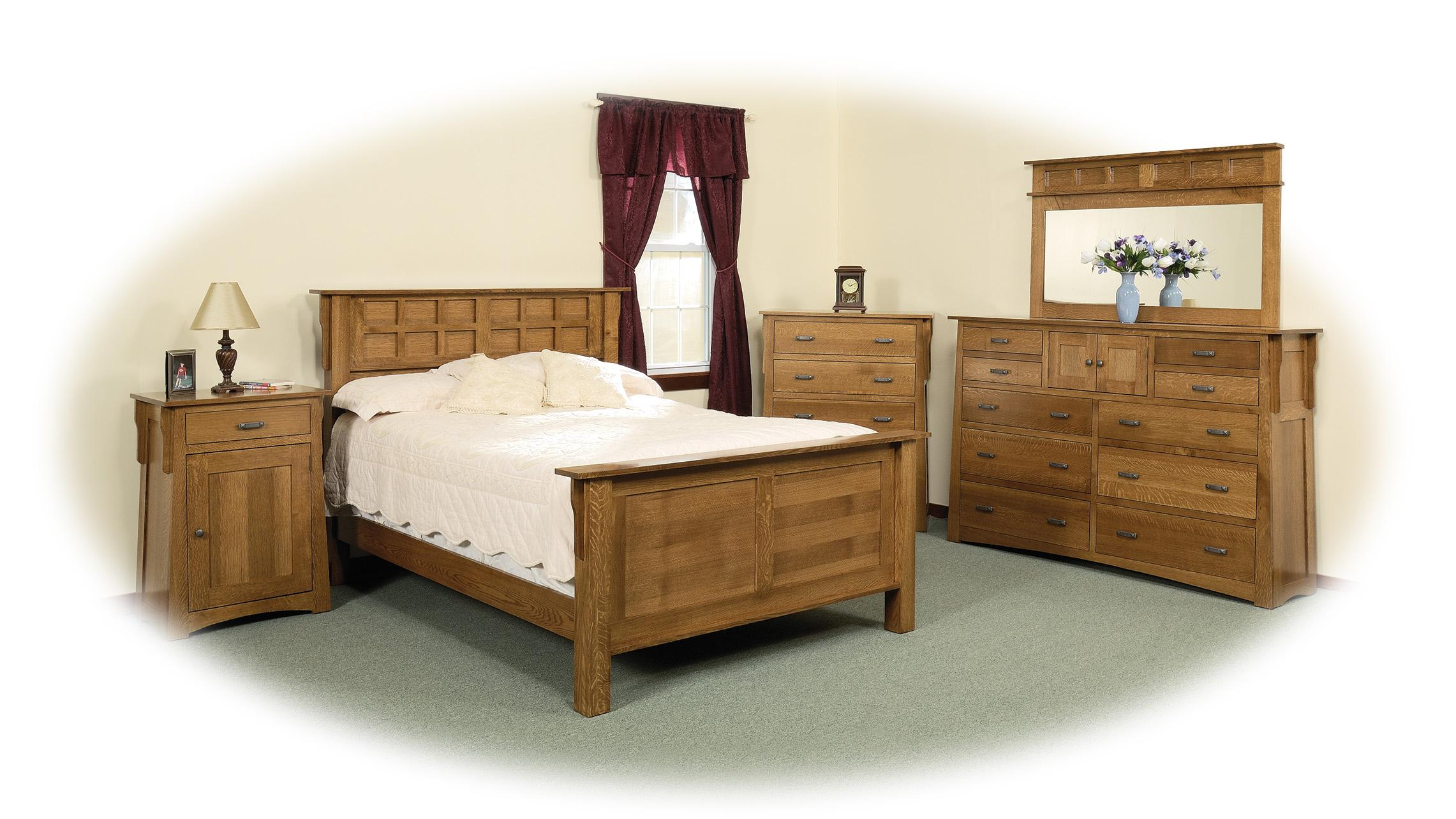 Arts crafts style bedroom furniture saugerties furniture for Arts and craft bedroom furniture