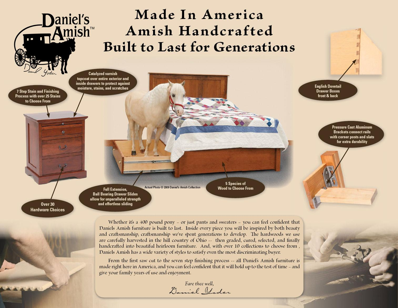 Contemporary Bedroom Furniture Amish Cosmopolitan By Daniels - Daniel's amish bedroom furniture