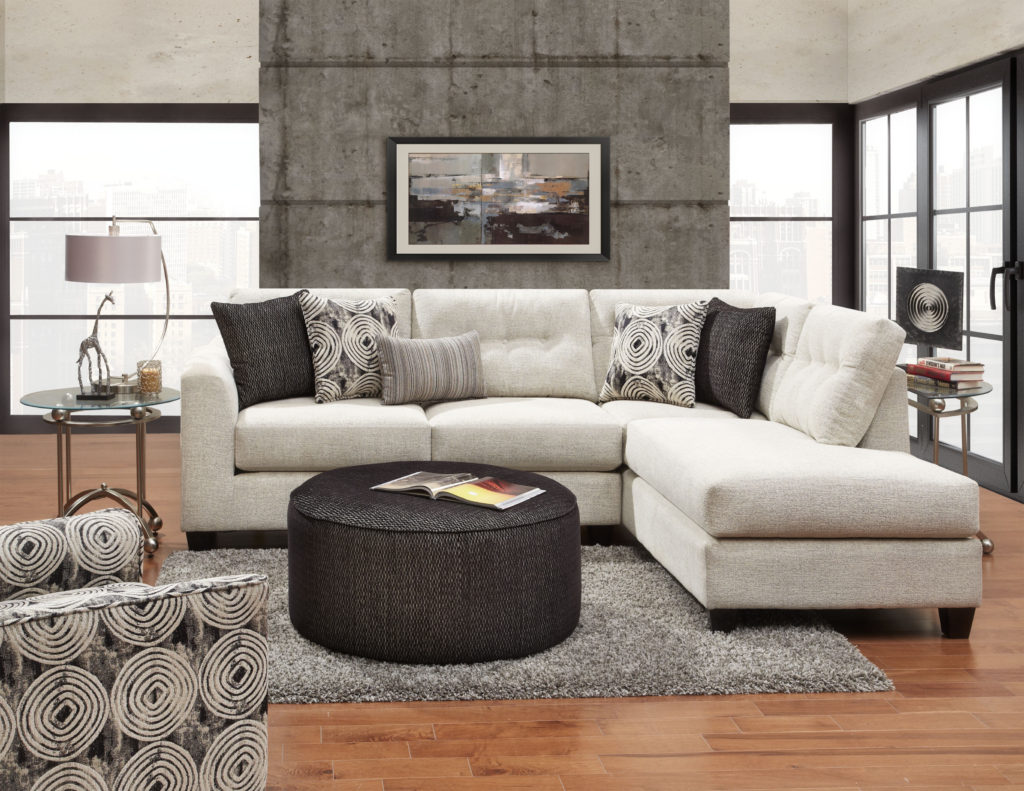 1516 Sectional in Plushton Linen